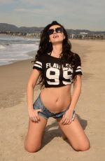 NATASHA BLASICK in Daisy Dukes at a Beach in Malibu 02/01/2018