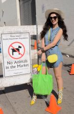 NATASHA BLASICK Shopping at Farmers Market in Hollywood 02/04/2018