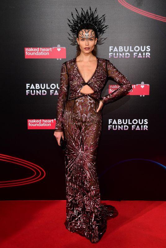 NATASHA POLY at Fabulous Fund Fair 2018 in London 02/20/2018
