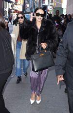 NAYA RIVERA Arrives at MTV TRL Studios in New York 01/31/2018