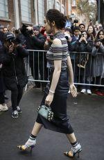NAZHA Arrives at Fendi Fashion Show in Milan 02/22/2018