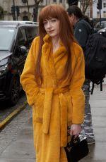 NICOLA ROBERTS Arrives at Faustine Steinmetz Show at London Fashion Week 02/19/2018