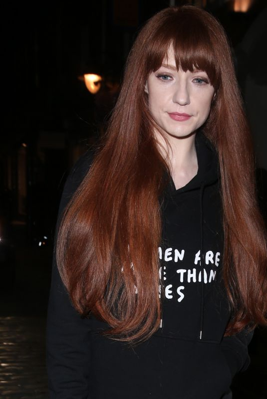 NICOLA ROBERTS Arrives at Henry Holland Fashion Show in London 02/17/2018