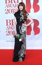 NICOLA ROBERTS at Brit Awards 2018 in London 02/21/2018