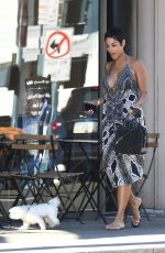 NICOLE MURPHY Out with Her Dog in Beverly HIlls 02/16/2018