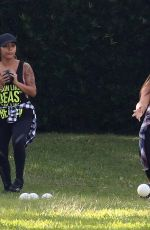 NICOLE SNOOKI POLIZZI and DEENA CORTESE on the Set of Jersey Shore Family Vacation in Miami Beach 02/01/2018