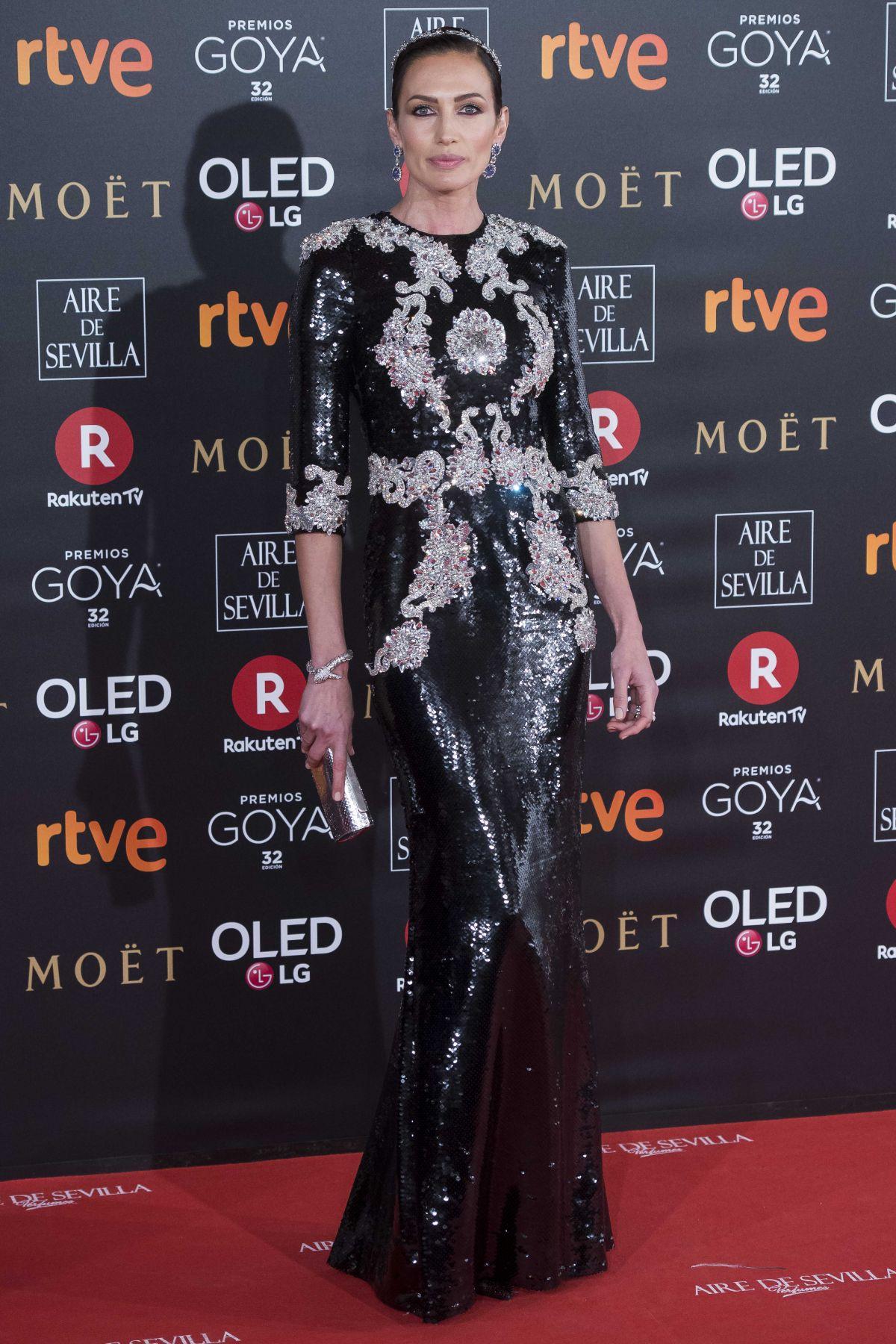 photo Nieves alvarez goya cinema awards at the marriott auditorium in madrid