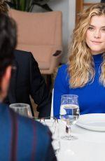 NINA AGDAL at Mr. Leight x BG Dinner in New York 02/01/2018