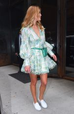 NINA AGDAL Out and About in New York 02/12/2018