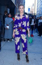 NINA AGDAL Out at New York Fashion Week 02/12/2018