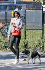 NINA DOBREV Out with Her Brother Alexander at a Park in Los Angeles 02/03/2018