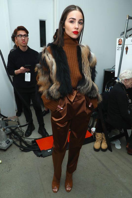 OLIVIA CULPO on the Backstage at Sally LA Pointe New York Fashion Week 02/13/2018