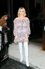 OLIVIA HOLT Leaves Zimmerman Fashion Show at NYFW in New York 02/12/2018