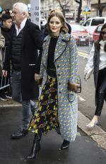 OLIVIA PALERMO Arrives at Fendi Fashion Show in Milan 02/22/2018
