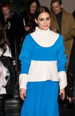 OLIVIA PALERMO Leaves Prabal Gurung Fashion Show in New York 02/11/2018
