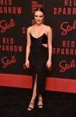 OLIVIA PEREZ at Red Sparrow Premiere in New York 02/26/2018