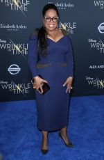 OPRAH WINFREY at A Wrinkle in Time Premiere in Los Angeles 02/26/2018