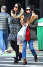 PADMA LAKSHMI Out Shopping with Her Sister in New York 02/02/2018
