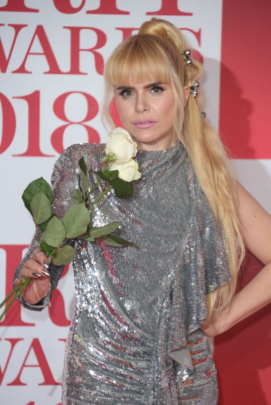 PALOMA FAITH at Brit Awards 2018 in London 02/21/2018