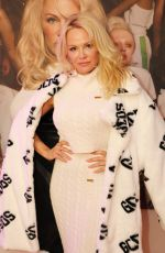 PAMELA ANDERSON at GCDS Spring 2018 Campaign Screening in Milan 02/22/2018