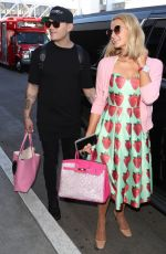 PARIS HILTON and Chris Zylka at LAX Airport in Los Angeles 02/08/2018