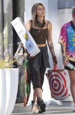 PARIS JACKSON Shows New Blonde Hair Out in Los Angeles 02/03/2018