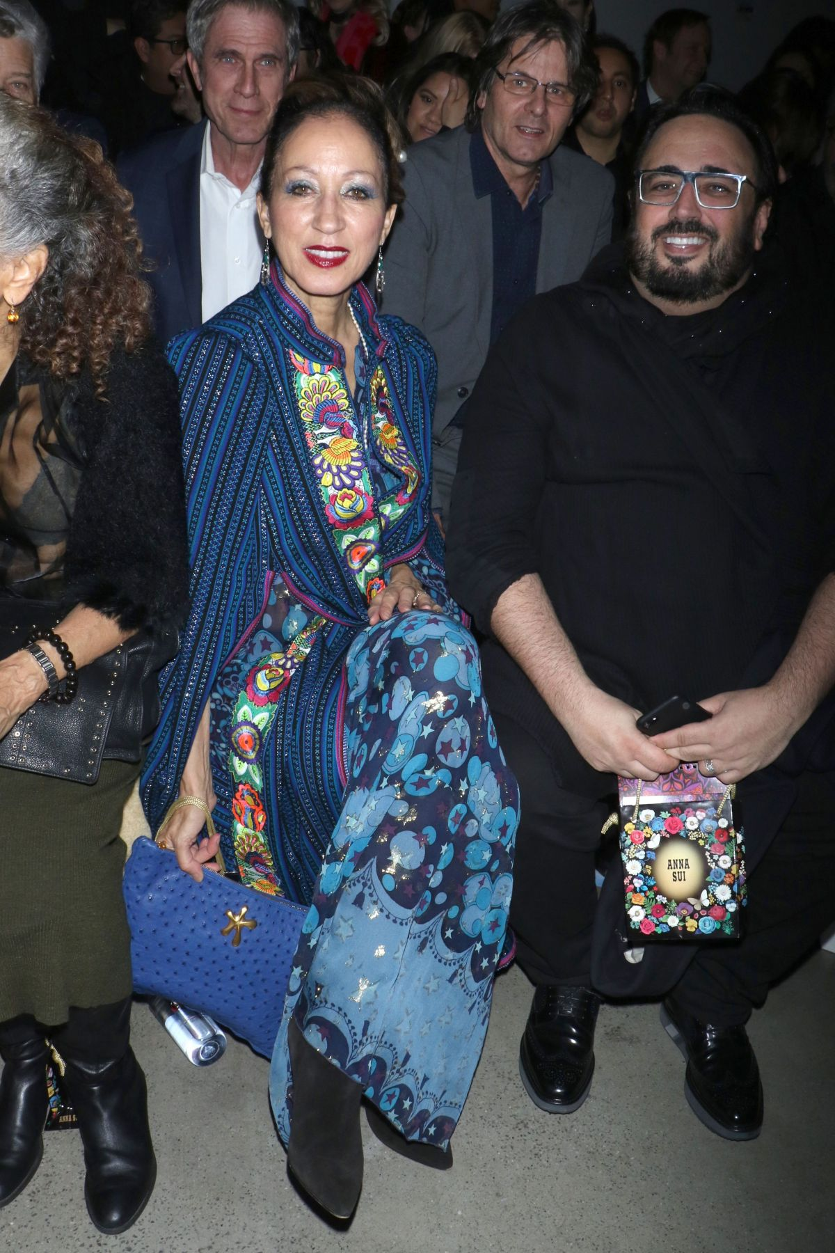 Pat Cleveland At Anna Sui Fall Winter 2018 Fashion Show Nyfw In New York
