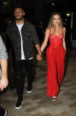 PERRIE EDWARDS and Alex Oxlade-Chamberlain Leaves Menagerie Restaurant & Bar in Manchester 02/24/2018
