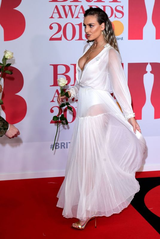 PERRIE EDWARDS at Brit Awards 2018 in London 02/21/2018