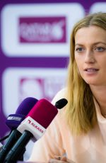 PETRA KVITOVA at 2018 WTA Qatar Open Press Conference in Doha 02/14/2018