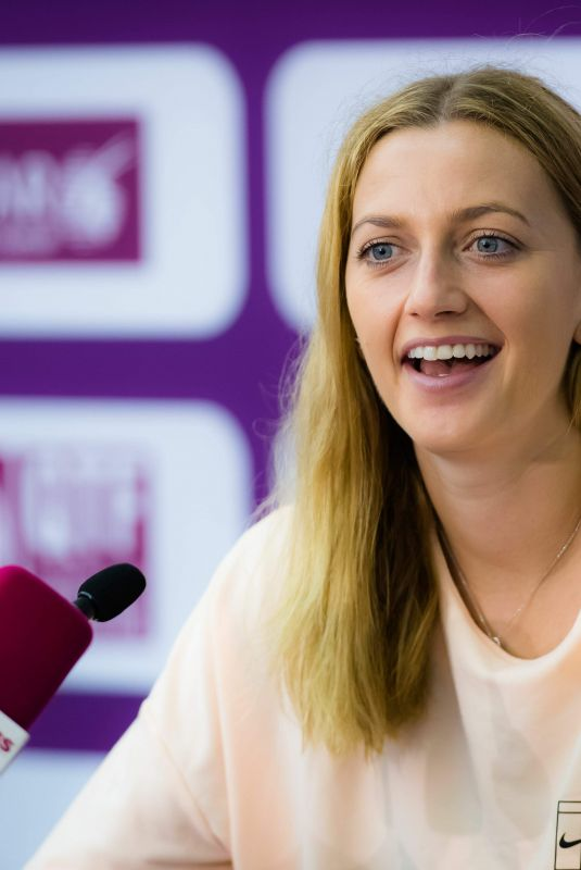 PETRA KVITOVA at 2018 WTA Qatar Open Press Conference in Doha 02/14/2018