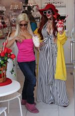PHOEBE PRICE and ANGELIQUE FRENCHY MORGAN Out for Ice Cream in Beverly Hills 02/14/2018