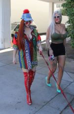 PHOEBE PRICE and SOPHIA VEGAS Out for Lunch at E Baldi in Beverly Hills 02/07/2017