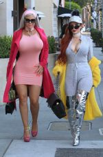 PHOEBE PRICE  and SOPHIA VEGAS WOLLERSHEIM Out Shopping in Beverly Hills 02/17/2018