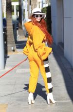 PHOEBE PRICE Out Shopping in Los Angeles 02/23/2018