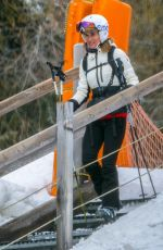 PIPPA MIDDLETON on Vacation in Switzerland 02/19/2018
