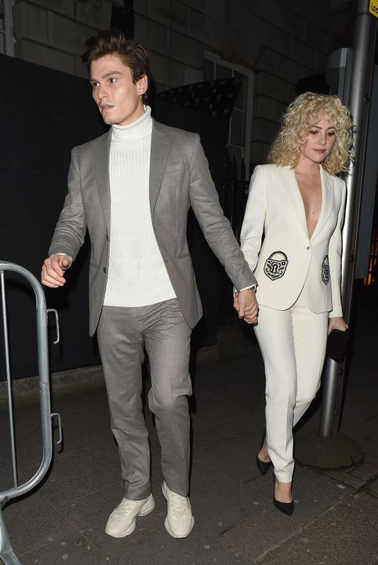 PIXIE LOTT and OLIVER CHSHIRE at Vogue x Tiffany & Co Bafta Afterparty in London 02/18/2018