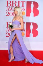 PIXIE LOTT at 38th Brit Awards at O2 Arena in London 02/21/2018