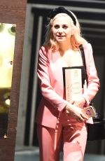 PIXIE LOTT Leaves Ours Resturant in London 02/13/2018