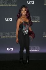 PORSCHA COLEMAN at Unsolved the Murders of Tupac and the Notorious B.I.G. Premiere in Los Angeles 02/22/2018