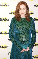 Pregnant ANGELA SCANLON at Fabulous Magazine 10th Birthday Party in London 02/06/2018