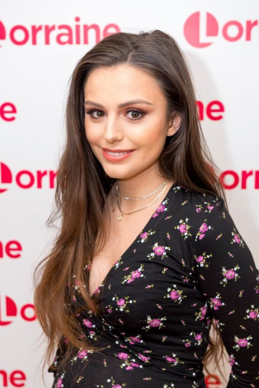 Pregnant CHER LLOYD at Lorraine TV Show in London 02/28/2018
