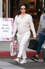Pregnant EVA LONGORIA Out and About in Beverly Hills 02/10/2018