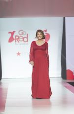 Pregnant GINGER ZEE in Gown by Galia Lahav at Red Dress 2018 Collection Fashion Show in New York 02/08/2018