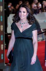 Pregnant KATE MIDDLETON at BAFTA Film Awards 2018 in London 02/18/2018