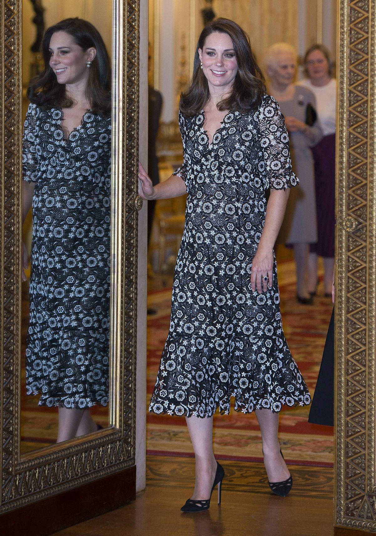 Pregnant Kate Middleton At Commonwealth Fashion Exchange