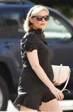 Pregnant KIRSTEN DUNST Out for Lunch at Priscilla