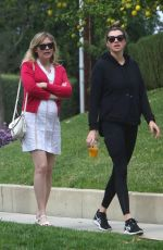 Pregnant KIRSTEN DUNST Out for Lunch in Los Angeles 02/10/2018