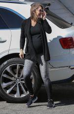 Pregnant KYM JOHNSON Out in Santa Monica 02/17/2018