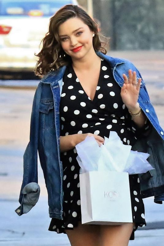 Pregnant MIRANDA KERR at Jimmy Kimmel Live in Los Angeles 02/06/2018